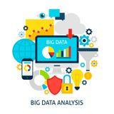 Duży dane analizy mieszkania pojęcie ilustracji