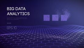 Duży Dane Business Intelligence technologii tło Binarnego kodu algorytmy zgłębiają uczenie rzeczywistości wirtualnej analizę royalty ilustracja