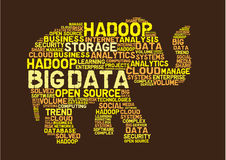 Duży dane hadoop Obrazy Royalty Free