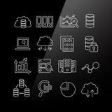 Duży dane ikony set royalty ilustracja