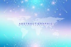 Duży dane kompleks Graficzna abstrakcjonistyczna tło komunikacja Fotografia Royalty Free