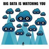 Duży dane ogląda ciebie royalty ilustracja
