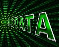 Duży dane Pokazuje Ewidencyjnych bajty I bajt ilustracja wektor