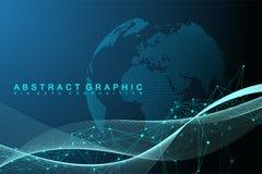Duży dane unaocznienie Graficzna abstrakcjonistyczna tło komunikacja Perspektywiczny tło Minimalny szyk Cyfrowi dane royalty ilustracja