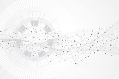 Duży dane unaocznienie Sztucznej inteligenci i Maszynowego uczenie pojęcie Graficzna abstrakcjonistyczna tło komunikacja royalty ilustracja