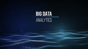 Duży dane unaocznienie Tło 3D Duży dane związku tło Cyber technologii Ai techniki drutu sieć futurystyczna Zdjęcie Stock