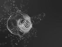 Duży dane unaocznienie Tło 3D Duży dane związku tło Cyber technologii Ai techniki drutu sieć futurystyczna Obrazy Stock