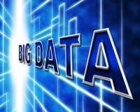 Duży dane Wskazuje Ewidencyjną wiedzę I informację ilustracja wektor