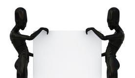 duży deski futurystyczne kobiety Obrazy Stock