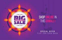 Duży Diwali sprzedaży plakat Obraz Royalty Free
