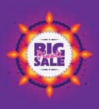 Duży Diwali sprzedaży plakat Obrazy Royalty Free