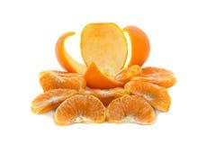 Duży, dojrzały, jaskrawy, tangerine na białym tle, soczysta owoc na odosobnionym tle mandarynka obraz stock