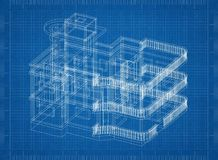 Duży Domowy architekta projekt royalty ilustracja