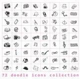 Duży doodle set, inkasowa ikona, ilustracji
