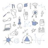Duży doodle ustawiający - pomysł, biznes Obrazy Stock
