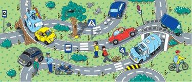 Duży drogowy bezszwowy tło lub wzór ilustracja wektor