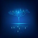 Duży drzewo ilustracja wektor