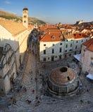 duży Dubrovnik fontanny onofrio s zdjęcia royalty free