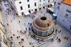 duży Dubrovnik fontanny onofrio s Zdjęcie Royalty Free