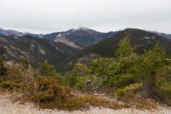 duży dystansowy pierwszoplanowy hochwart mt kołysa szczyt swansea Obraz Stock
