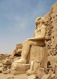 duży egipska siedząca statua Obraz Stock