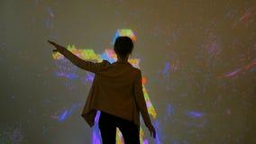 Duży ekran zwiększający rzeczywistości doświadczenie obrazy stock