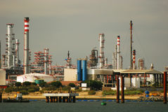 duży fabryki gazu rafineria ropy naftowej Zdjęcie Stock