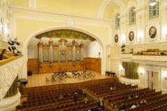 Duży filharmonii wnętrze przy Moskwa konserwatorium Fotografia Royalty Free