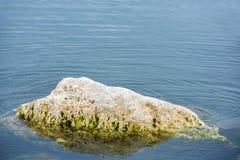 Duży głaz zanurzający w wodzie obrazy royalty free