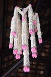 Duży girlanda kwiatu Lanna styl przy Tajlandia Fotografia Stock