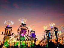 Duży halny festiwal muzyki zdjęcie royalty free