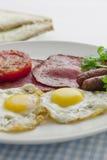 Duży i pełny śniadanie Fotografia Royalty Free