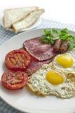 Duży i pełny śniadanie Zdjęcia Royalty Free