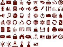 duży ikony ustawiają sieć Obraz Stock