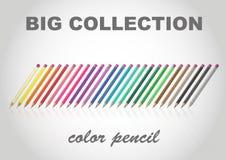 Duży inkasowy koloru ołówek Royalty Ilustracja