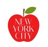 Duży jabłczany Miasto Nowy Jork Zdjęcie Royalty Free