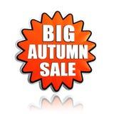 Duży jesieni sprzedaży pomarańcze gwiazdy sztandar Zdjęcie Royalty Free
