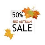Duży jesieni sprzedaży projekt Zdjęcie Royalty Free