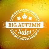 Duży jesieni sprzedaży rocznika typografii plakat Zdjęcie Royalty Free