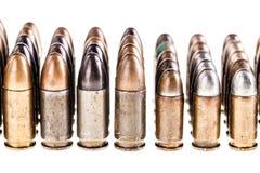 Duży kaliberów pocisków rząd Zdjęcia Royalty Free