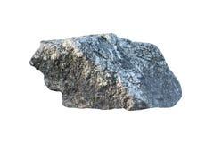Duży kamień i skała odizolowywający na białym tle Fotografia Royalty Free