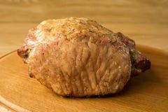 Duży kawał smażący mięso obrazy royalty free