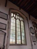 Duży Kościelny okno jak Widzieć Od Inside obrazy stock