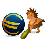 duży kota monety euro mały target2363_0_ Obrazy Royalty Free