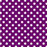 duży kropek polki purpurowy bezszwowy biel Obrazy Royalty Free