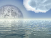duży księżyc royalty ilustracja