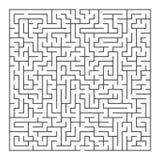Duży kwadratowy labiryntu gama royalty ilustracja