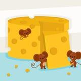 Duży masło z trzy myszami również zwrócić corel ilustracji wektora Fotografia Royalty Free
