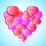 Duży miłości serce ilustracji