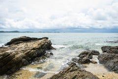 Duży morze i skała Obraz Stock